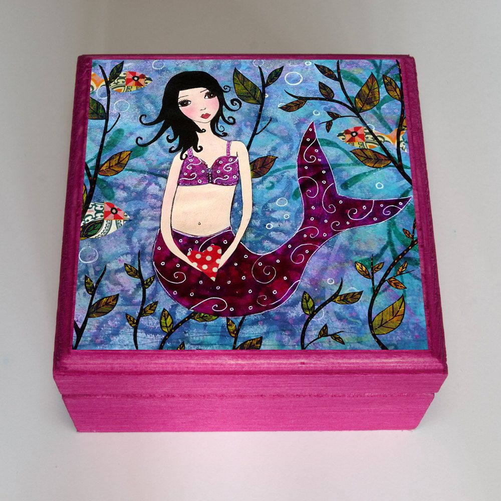 Little Mermaid Jewelry Box Trinket Box Jewelry Organizer Mermaid