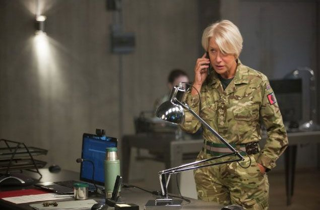 Review of the thriller Eye in the Sky starring Helen Mirren and Aaron Paul. #eyeinthesky
