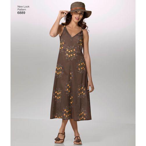 bbe9fcbf8998 New Look Pattern 6889 Misses  Dresses