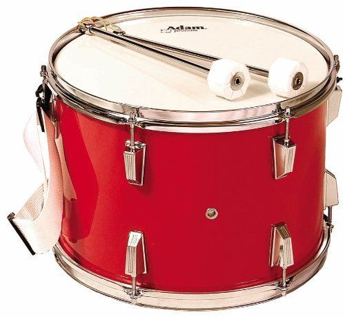 Adam Red Tenor Marching Band Drum w/ Beaters & Straps by ...