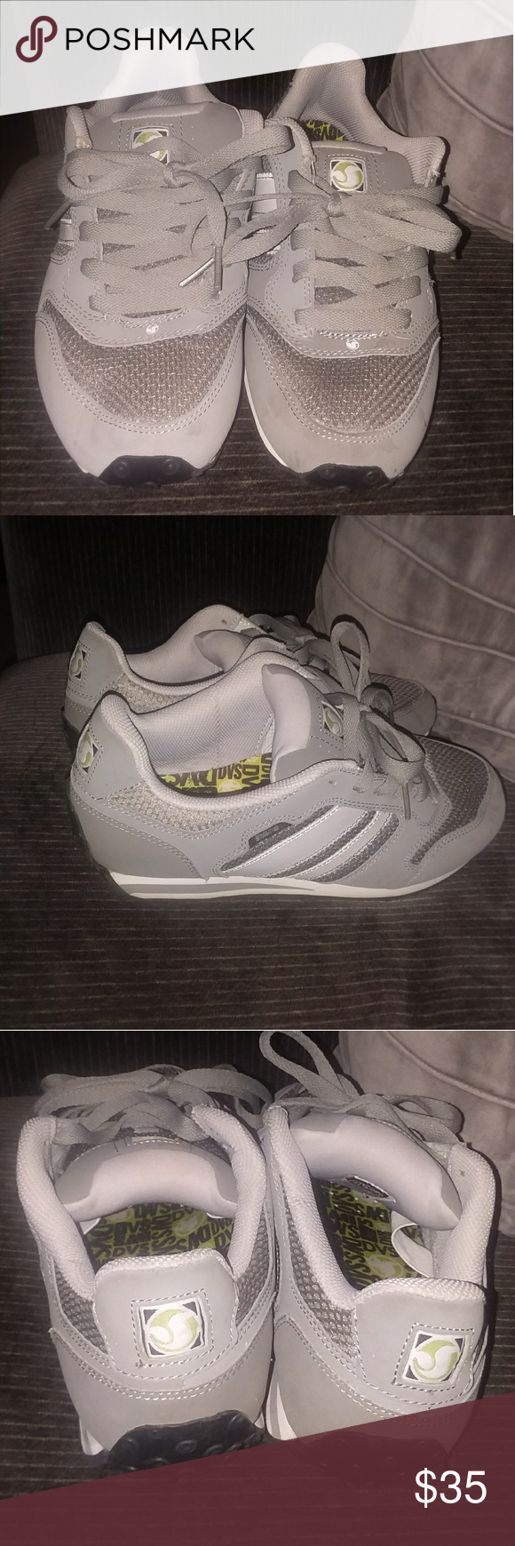 Mens Gray DVS Skate Shoes Mens premier mesh skate shoes.  No signs of wear or tear immaculate condition. DVS Shoes