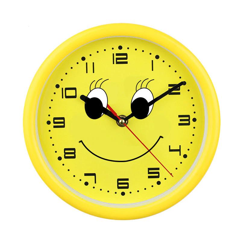 8 67 18 De Descuento Reloj De Pared Con Sonrisa De Dibujos Animados Para Ninos De Cuarzo Decorativo Para Sala De Estar Y Bano Diseno Moderno Decoracion De Wall Clock Home Decor Clock