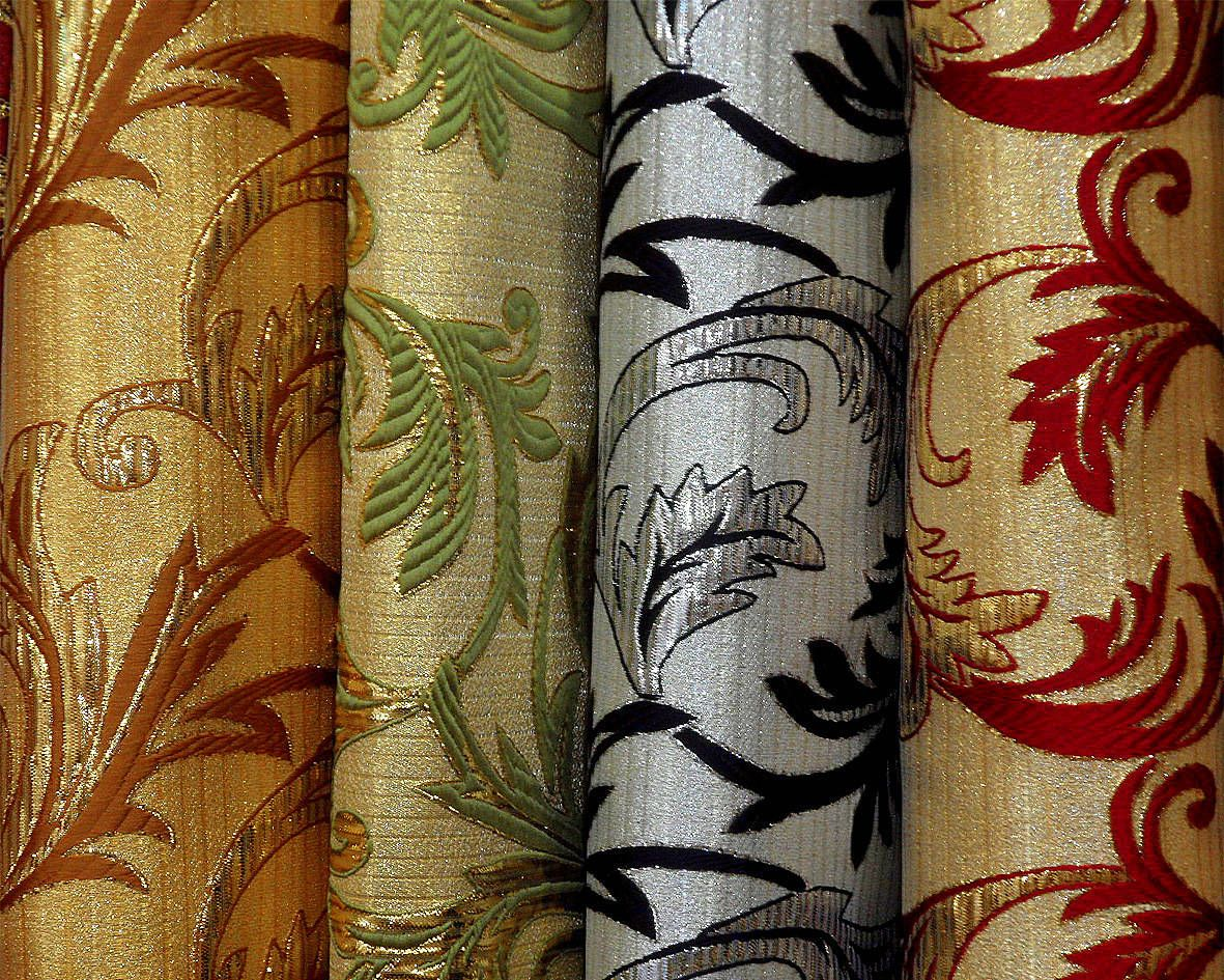 klasszikus brokát selyem - lakástextil dekor sötétítő függöny ... f0d7839e68
