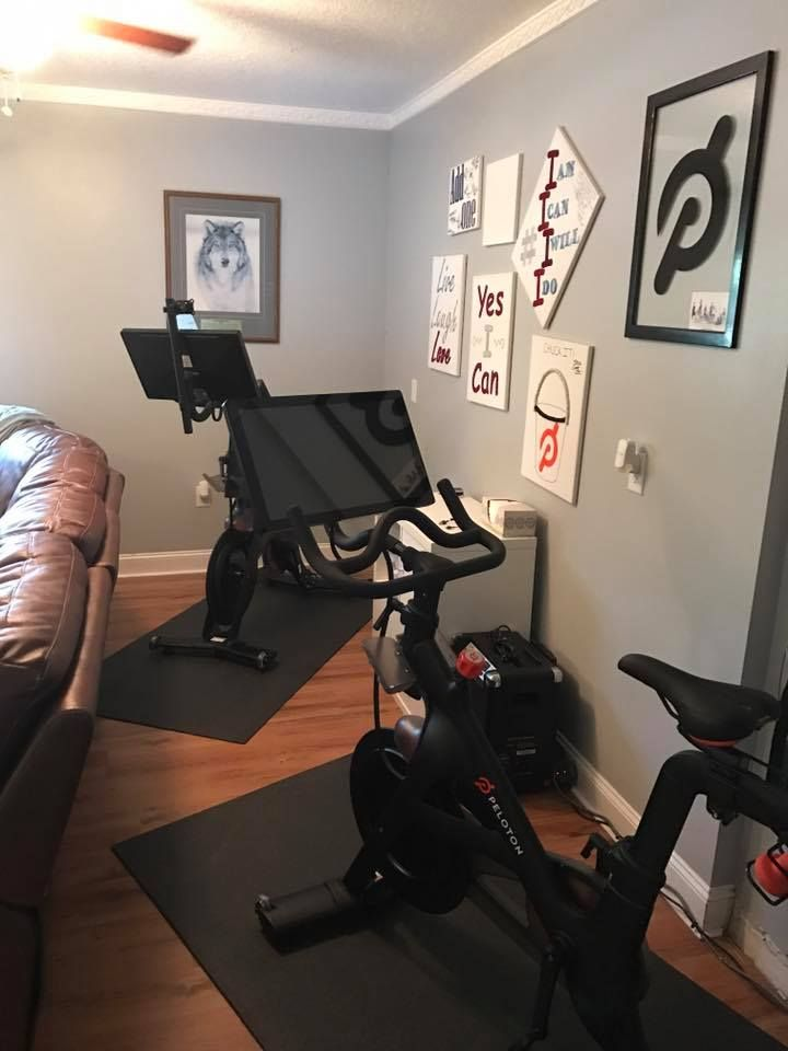 chair gym setup pilates ball pin by peloton on best bike setups pinterest and spin bikes