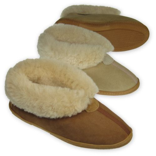 b072cafd004 Sheepskin Bootie Slipper - side-stitched sole $72.95 US Mens 7 ...