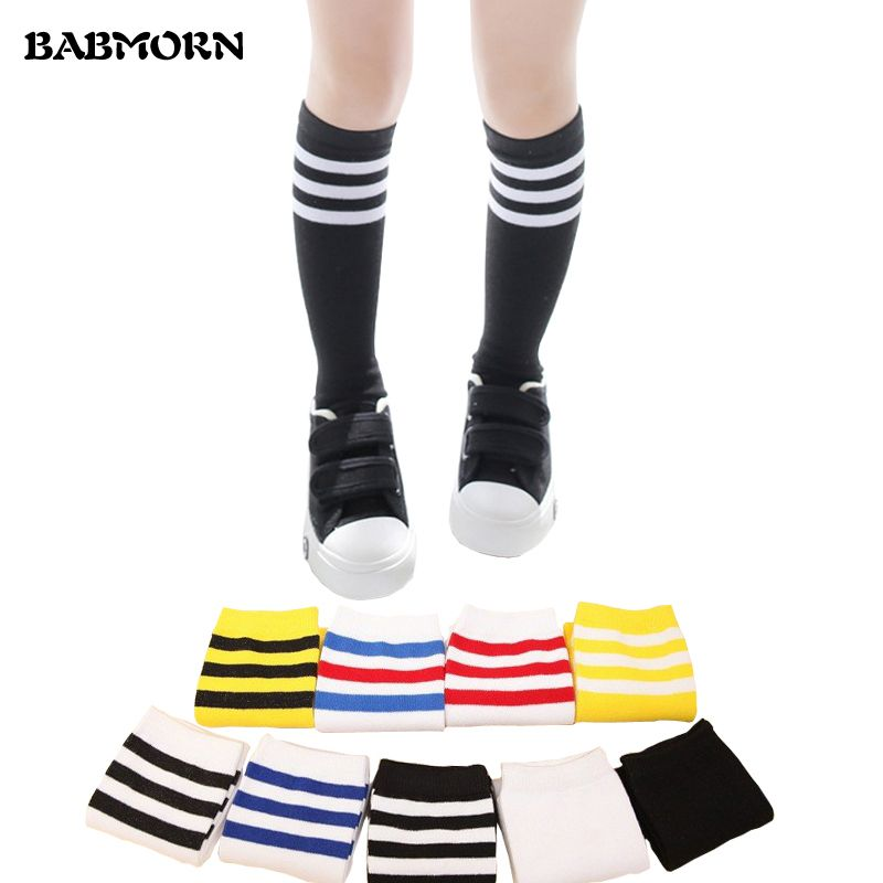 729bd9866 Kids Knee High Socks For Girls Boys Football Stripes Cotton Sports Old  School White Socks Skate Children Baby Long Tube Leg Warm   Price   8.99    FREE ...