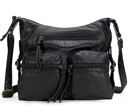 Scarleton Multi Pocket Crossbody Bag H188701 - Black   Read more reviews of  the product by 81880364b5