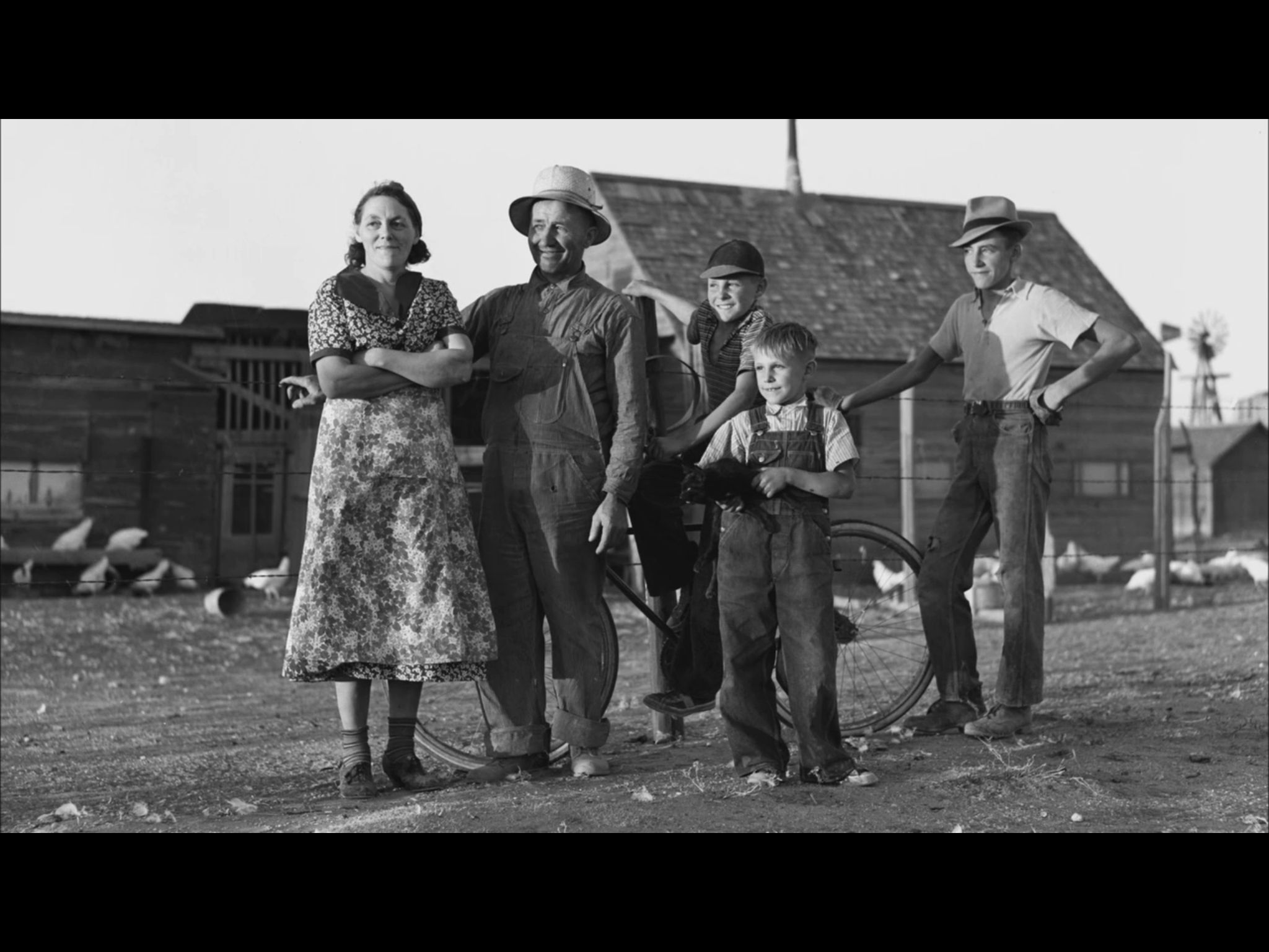 Memories of the 1930s dust bowl. Dust bowl, 1930s