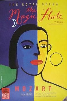 Magic Flute 1993 Original Royal Opera Poster The Magic Flute Opera Concert Posters