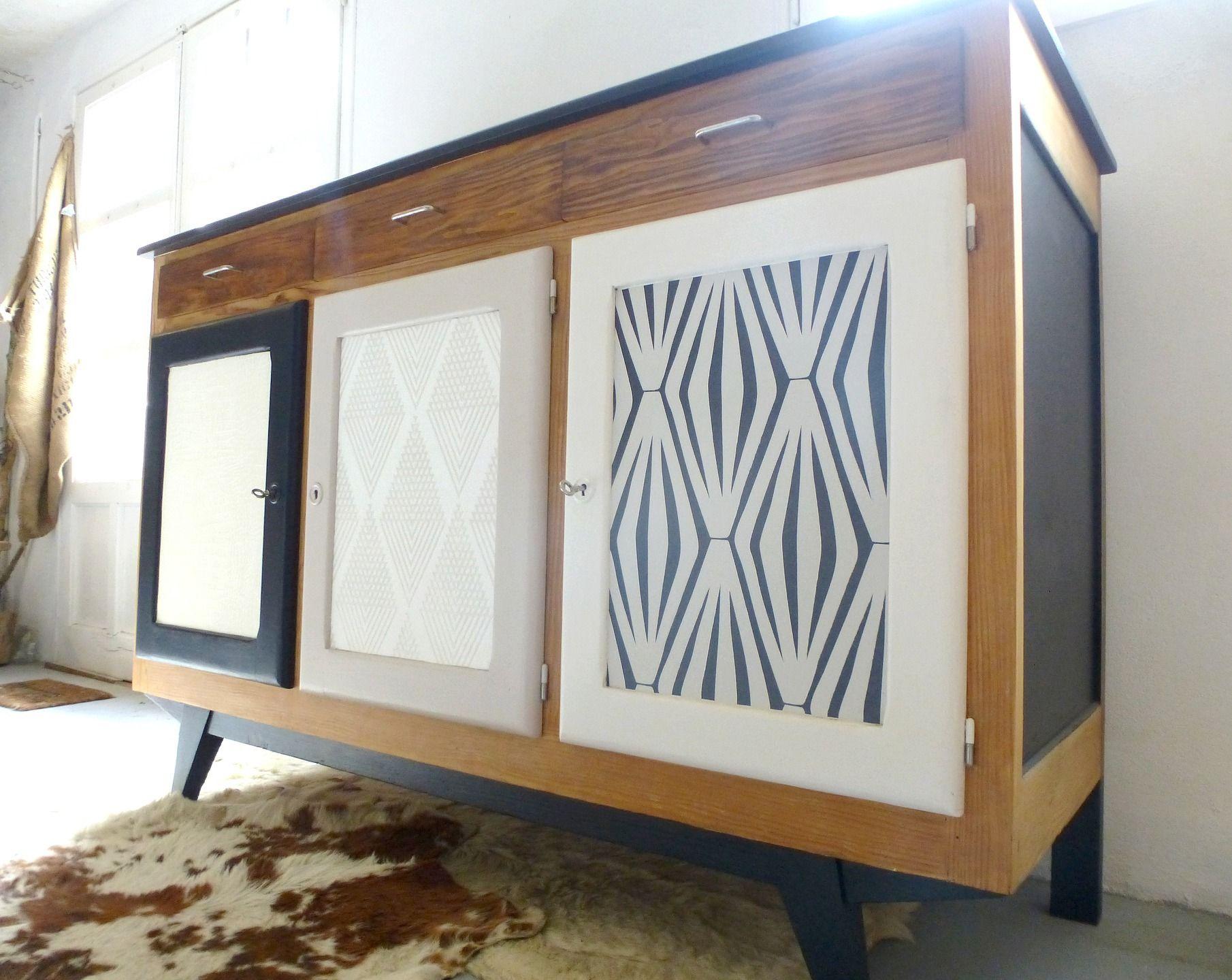Buffet Vintage En Bois De Pin Relooke Meubles Et Rangements Par Dcosmose Meuble Living Mobilier De Salon Relooking Meuble