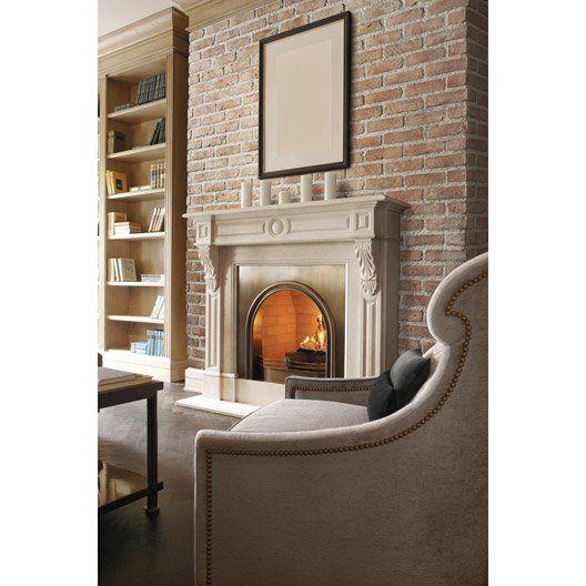 LEROYMERLIN plaquette_de_parement_beton_rose_florence 37,90\u20ac/m2 - Cuisine Exterieur Leroy Merlin
