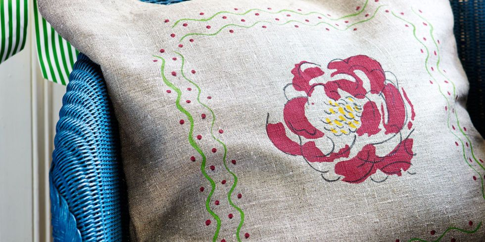 Decorate homemade cushions, table linen and tote bags with bespoke designs.