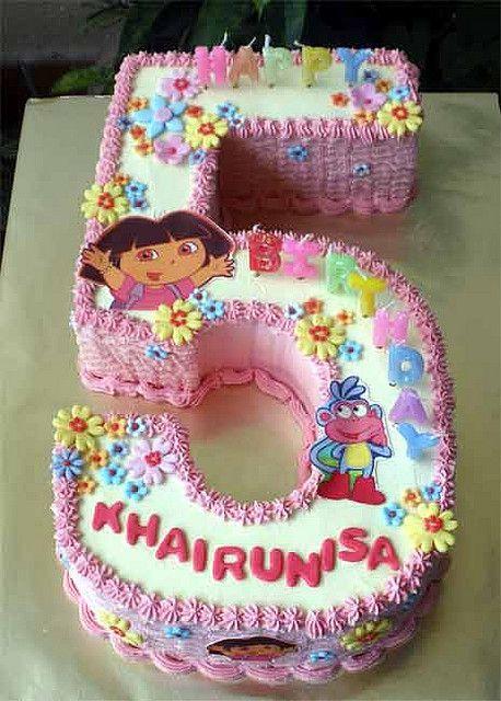 Phenomenal Dora No 5 Cake Birthday Ideas Cake Cupcake Cakes Dora Cake Funny Birthday Cards Online Bapapcheapnameinfo