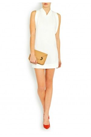 Tie Back Crepe Dress - Dresses - Clothes - London-Boutiques.com