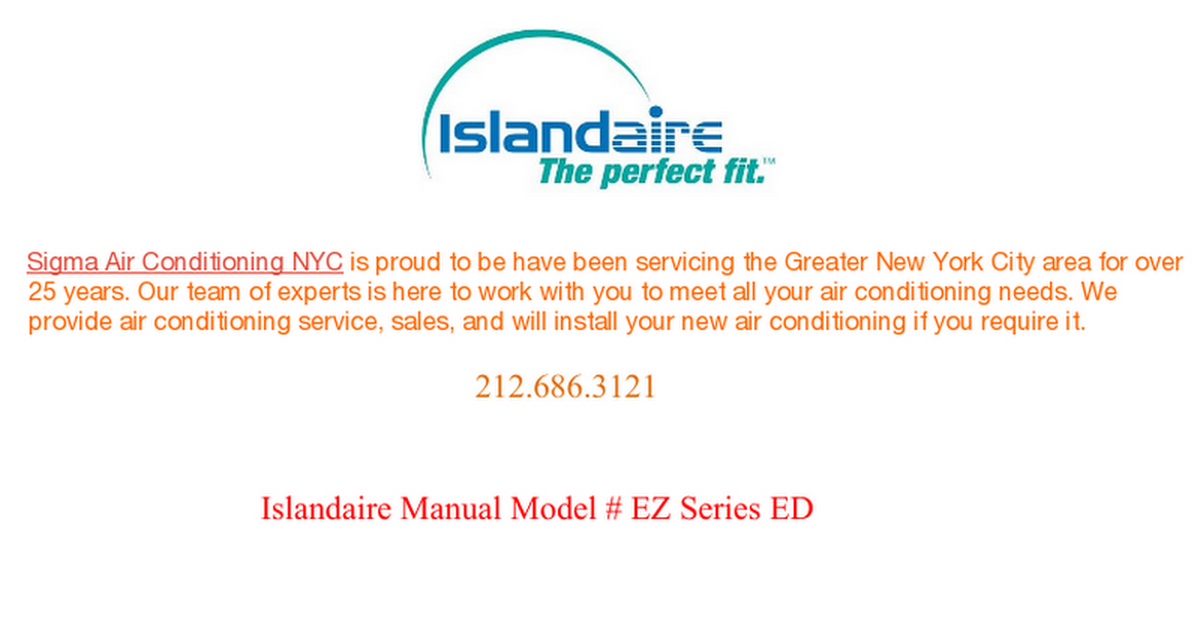 36 Best Islandaire Ptac Manual Images Air Conditioning Services