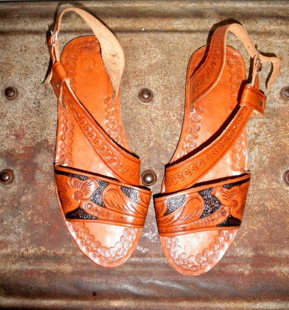 6e0178b00d Too bad they art a size 9 not 6. Beautiful Hand Tooled Leather ...