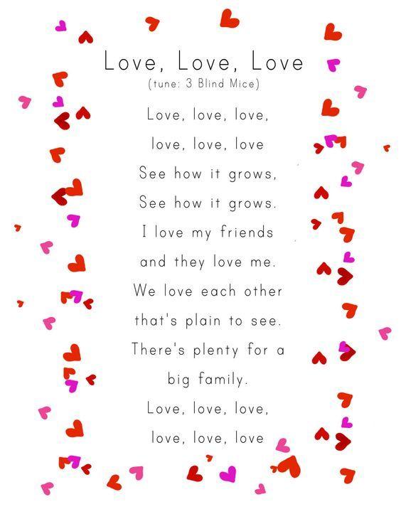 awww for valentines day week - Preschool Valentine Songs