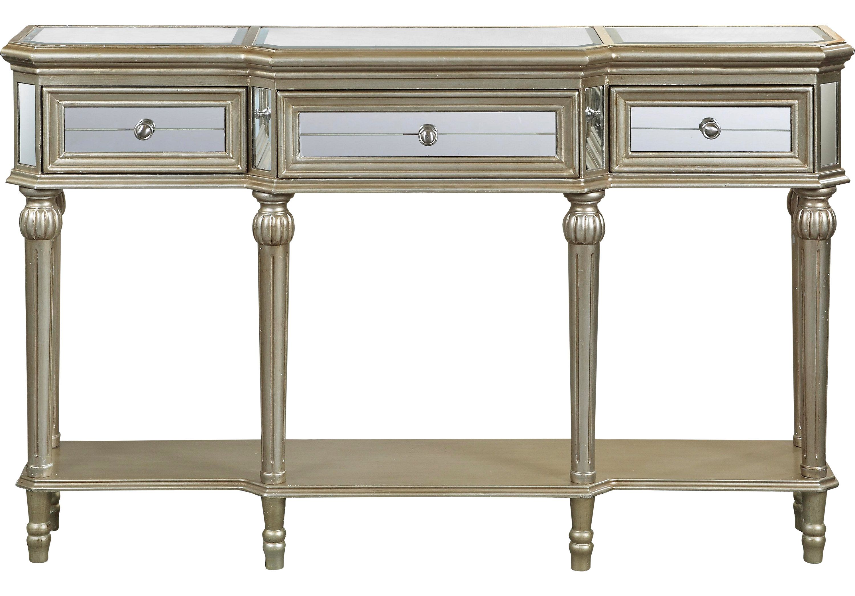 picture of Silver Crowne Accent Console  from Accent Cabinets Furniture