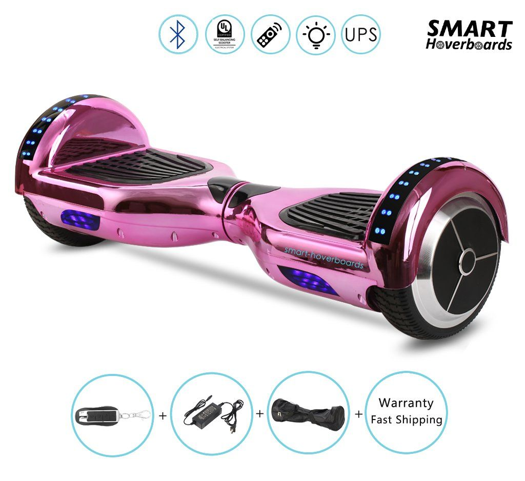 Chrome Gold Hoverboard For Kids In Xmas With Bluetooth Speaker