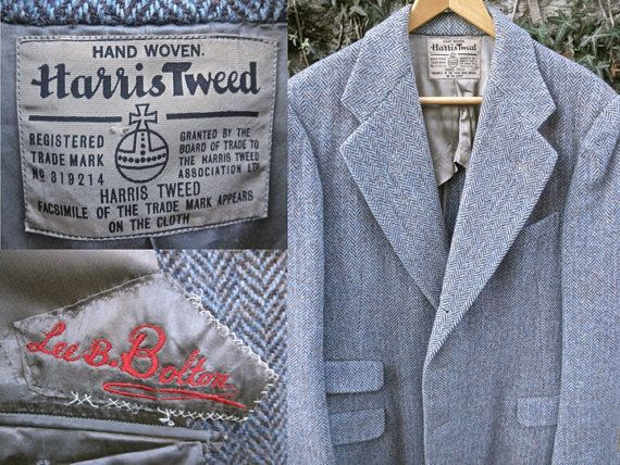 Harris Tweed Fabric Light blue