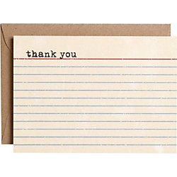 Vintage Thank You Notes  Thank You    Note And Paper