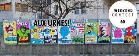 """Manifesti abusivi per manifesti abusivi, in Francia hanno esposto quelli """"giusti"""". Supereroi al potere! #guerrilla #art Guardate, son bellissimi!"""