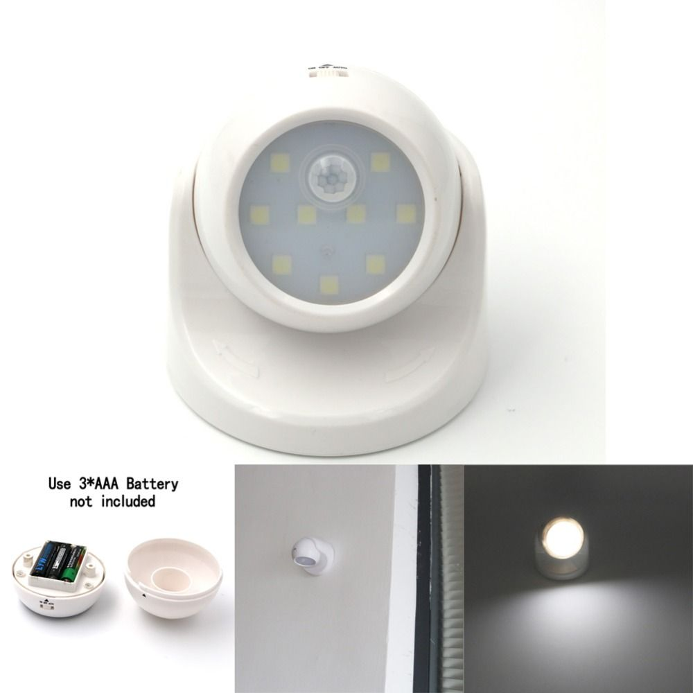 Security 9 Led Led Motion Sensor Night Light 360 Degree Rotation Children S Nightlight Auto Pir Ir Infrared Detector Lamp Nochnye Ogni Svetodiod Datchik Dvizheniya