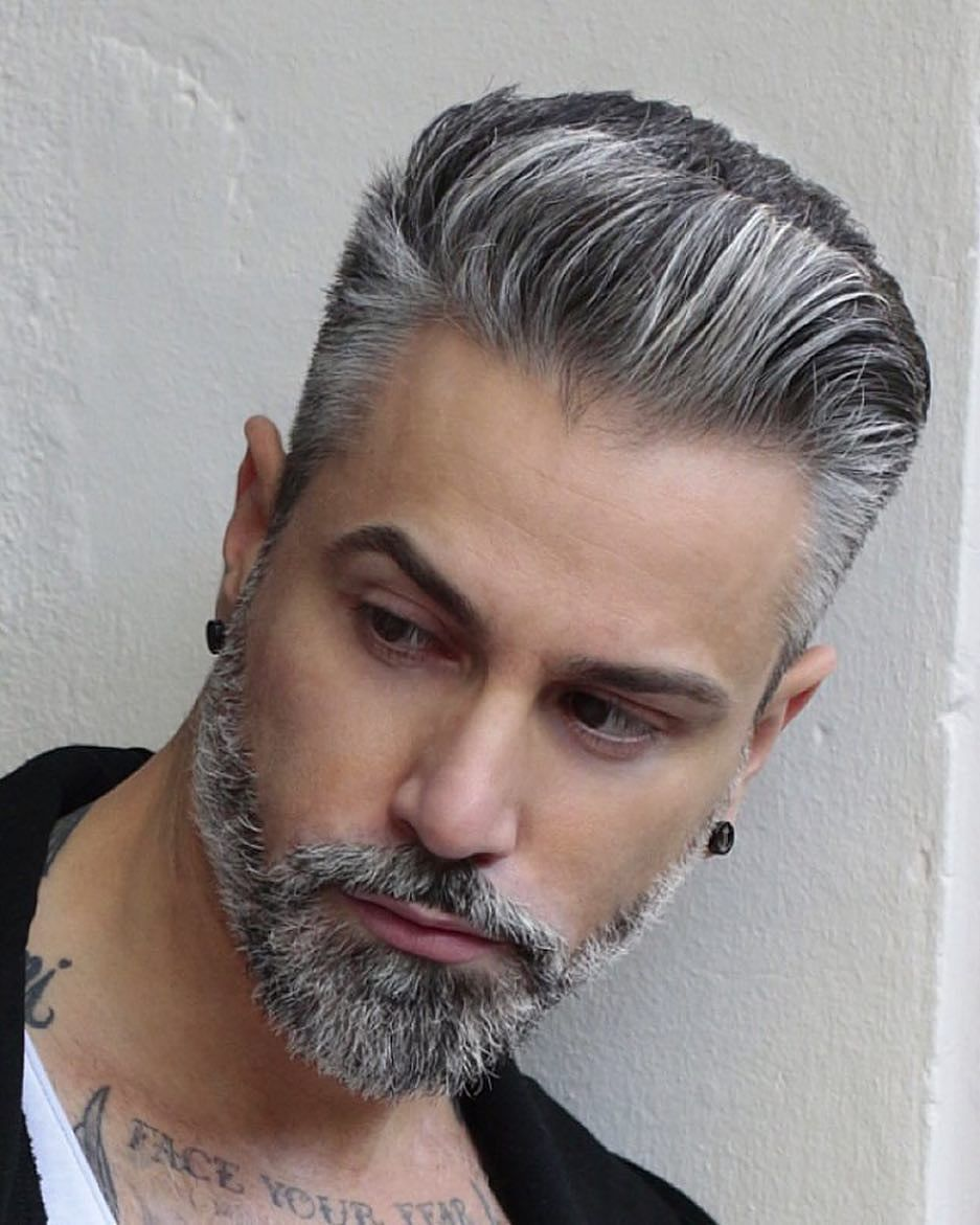 Awesome 75 Flattering Hairstyles For Men With Thinning Hair Snip For Confidence Hairstylesformens Silver Hair Men Grey Hair Men Hair Styles