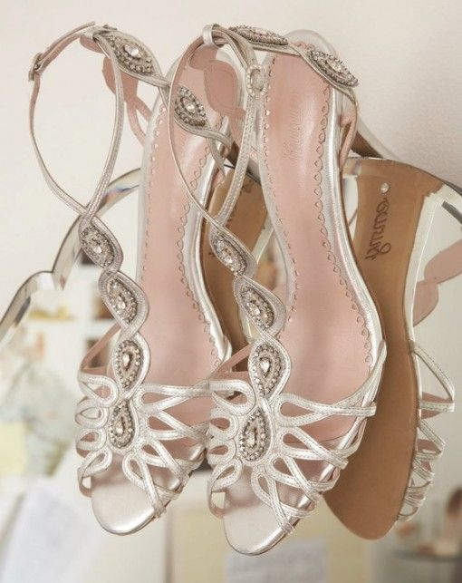 Indian Wedding Bespoke Silver Sandals With Jewelled Embellishments