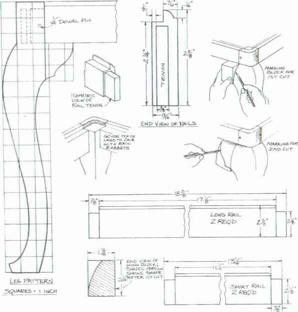 Furniture Legs · Queen Anne Stool