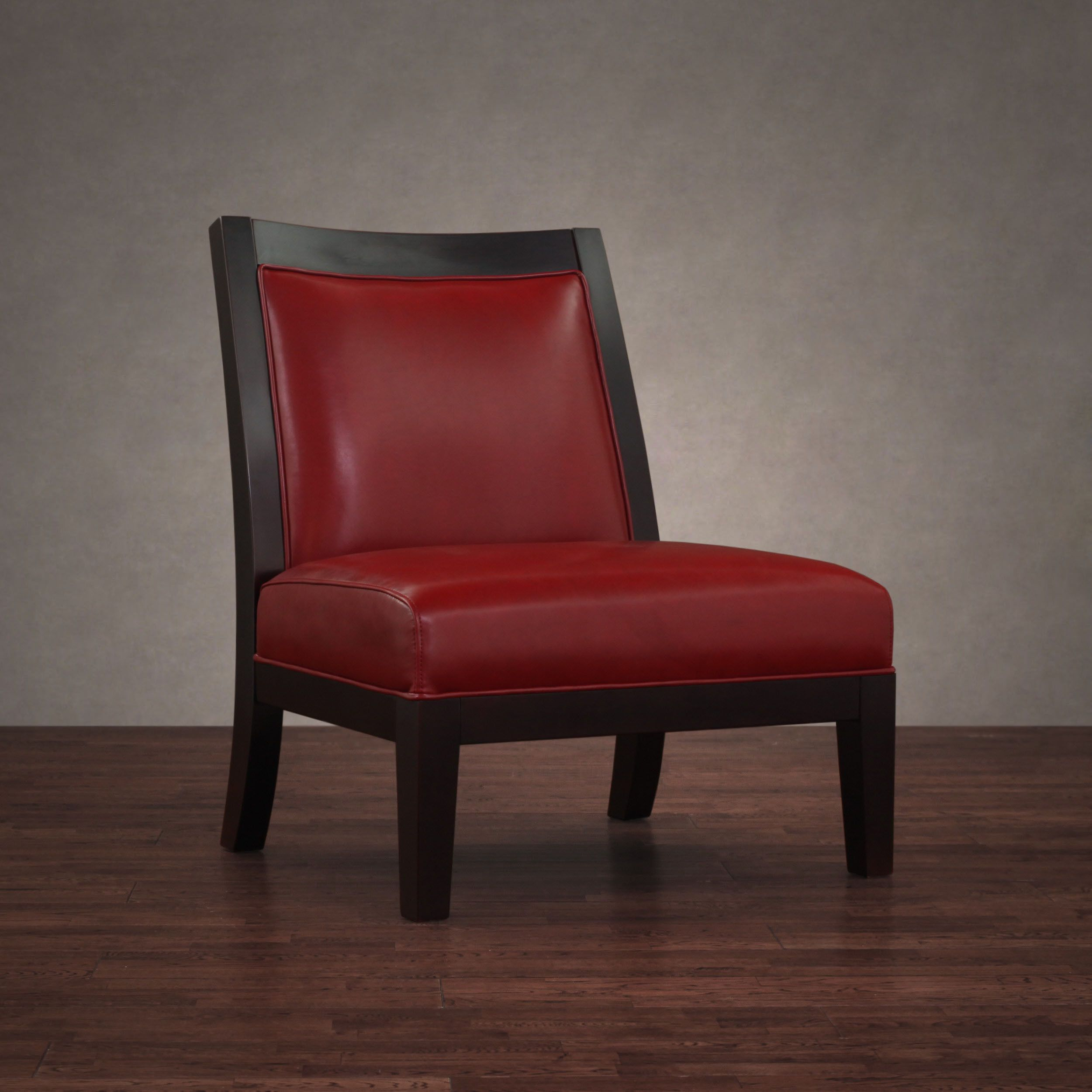 Add A Modern Touch To Your Decor With This Contemporary Red Leather Chair Featuring A Durable Hardwood Red Leather Chair Leather Chair Accent Chairs For Sale
