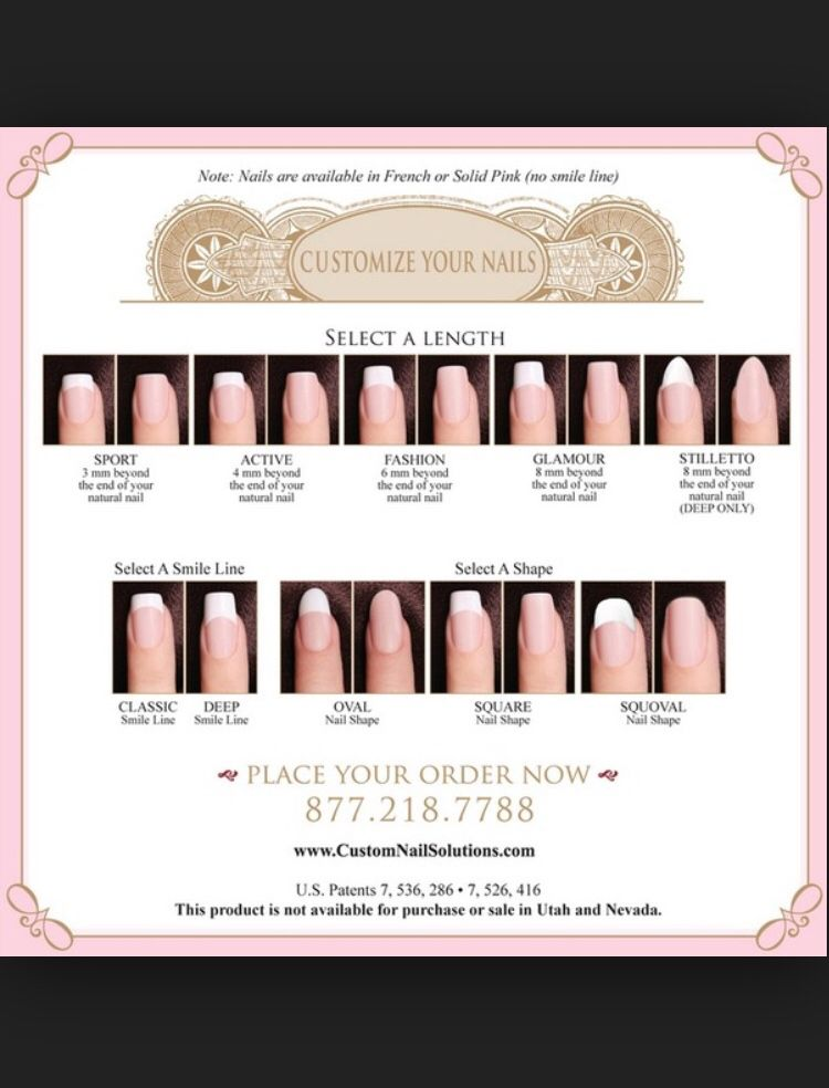 Nail length guide (very helpful) Diy wedding nails, Nail