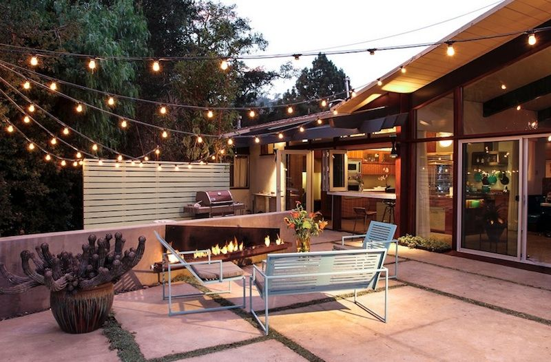 Magnificent Kichler Outdoor Lighting Trend Santa Barbara Midcentury Patio  Decorating Ideas With Backyard Cactus Container Plants Exterior Lighting  Metal ...