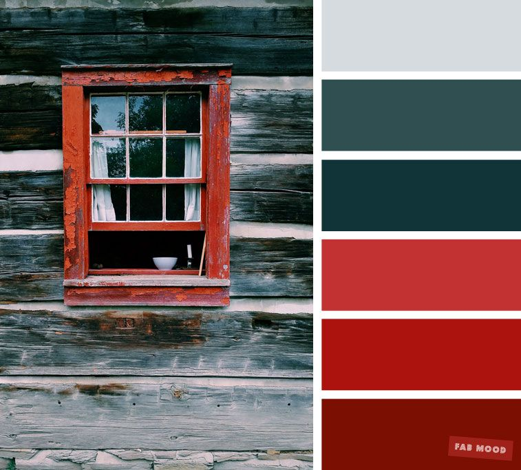 Red And Green Grey Color Scheme Inside Red Colour