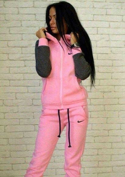 pinkblack nike suit  urban outfits urban wear urban