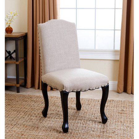 Devon  Claire Misty Natural Nailhead-trim Upholstered Dining Chair