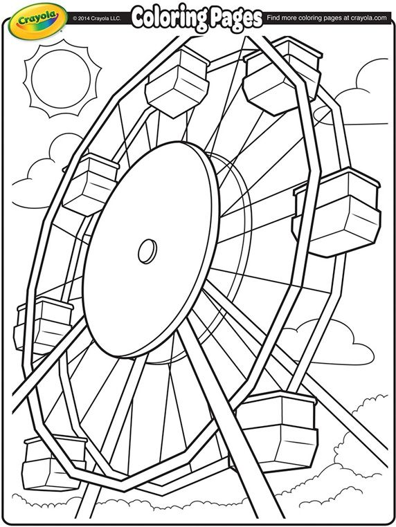 Ferris Wheel On Crayola Free Printable Coloring PagesFree