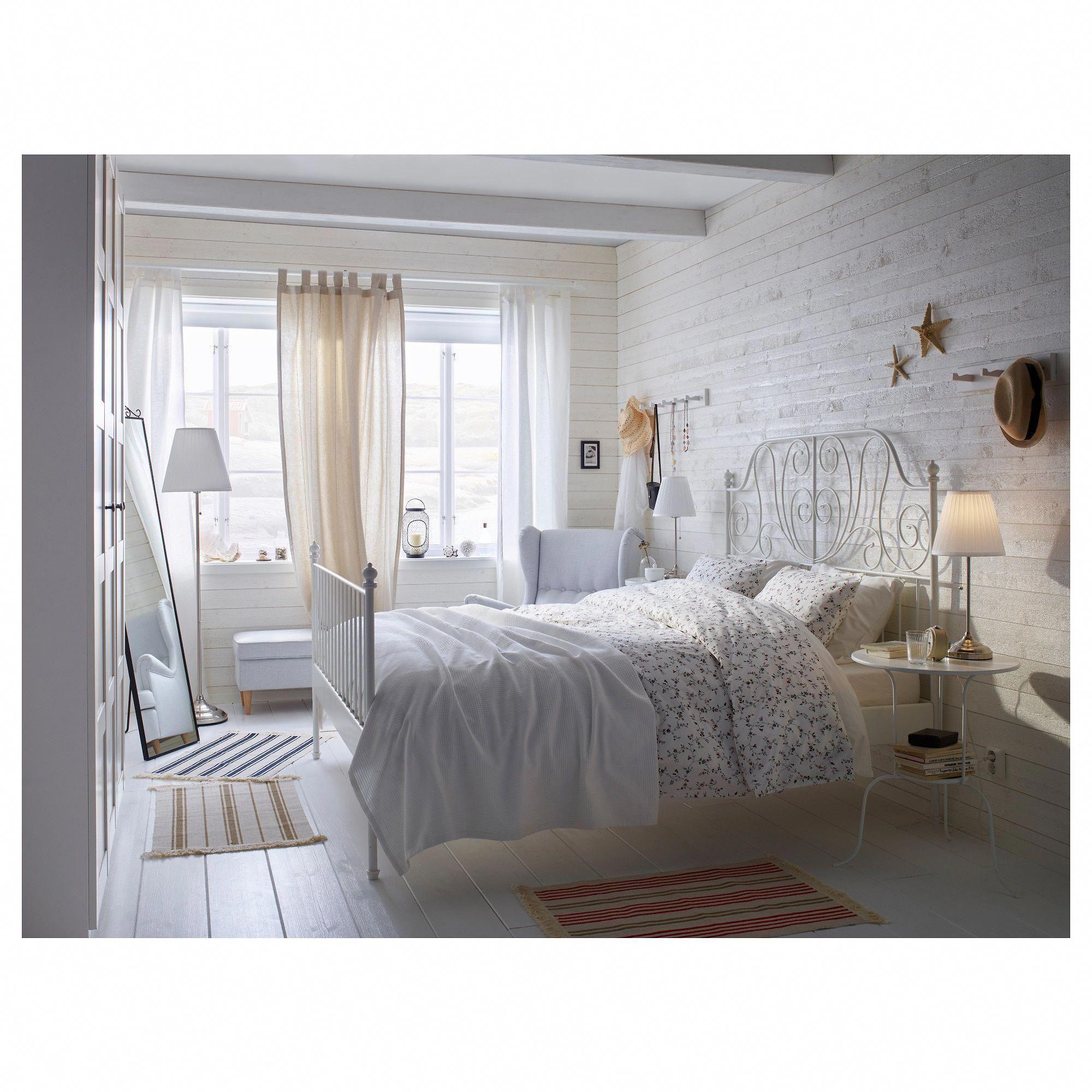 IKEA LEIRVIK White, Espevär Bed frame beds in 2020