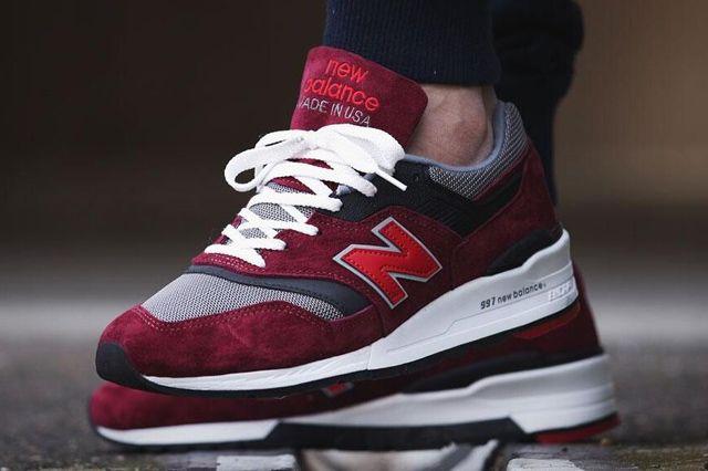 new balance hombres zapatillas rojas