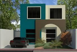 Casas color turquesa exterior