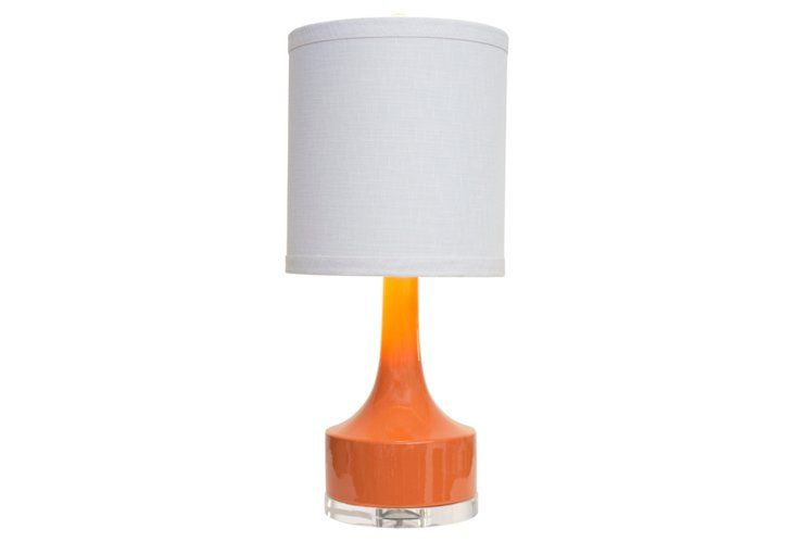 Holmby Table Lamp Orange Gloss 180