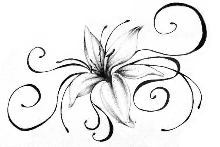 Lily Tattoo By Meripihka.deviantart.com