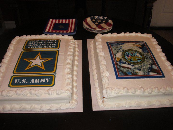 Going Away Cake For My Husband And Cousins Deployment Party With