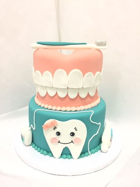 Dentist School Graduation Cake Dental Medical Teacher Cakes Fondant