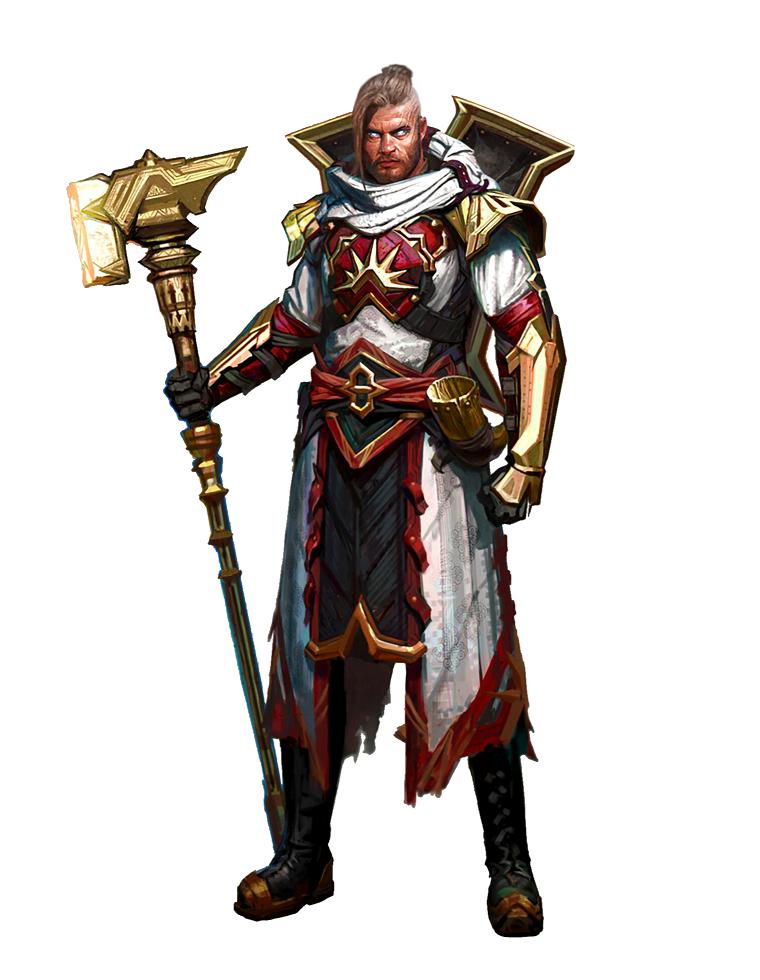 Male Human Paladin Hammer Knight Pathfinder Pfrpg Dnd Dd 35 5e