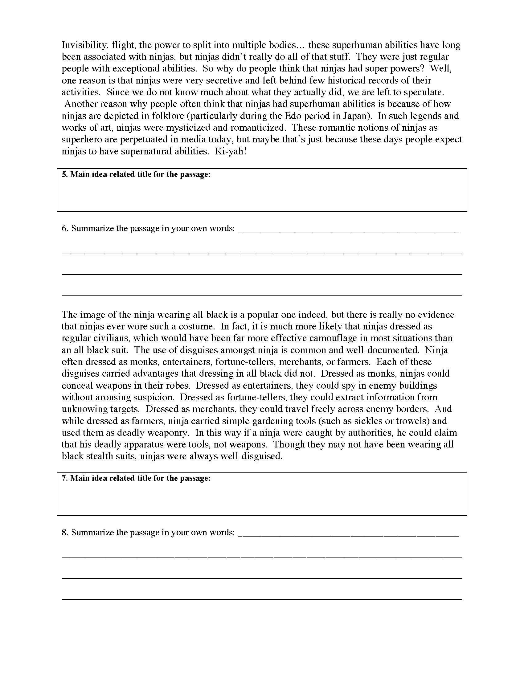 Summary And Main Idea Worksheet 2 Preview Summarizing Worksheet Reading Comprehension Worksheets Main Idea Worksheet [ 2200 x 1700 Pixel ]