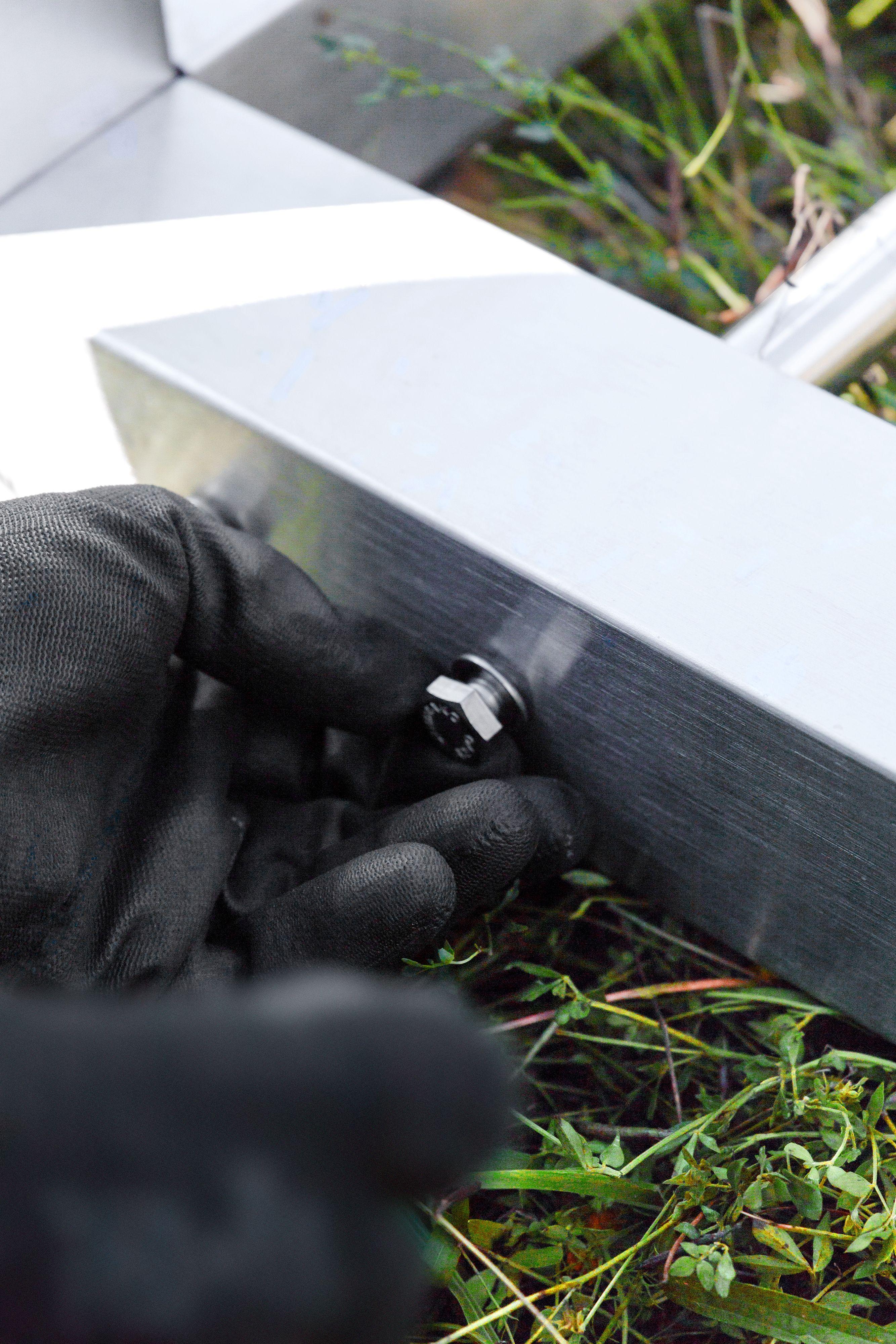 design outdoorbett edelstahl, design outdoor bed stainless steel