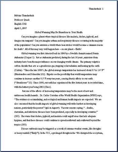 mla format essay heading