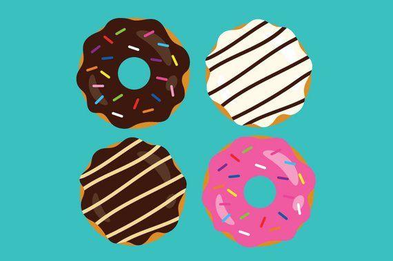 Donuts & Coffee Clip Art Set | Dessert Breakfast Diner ...