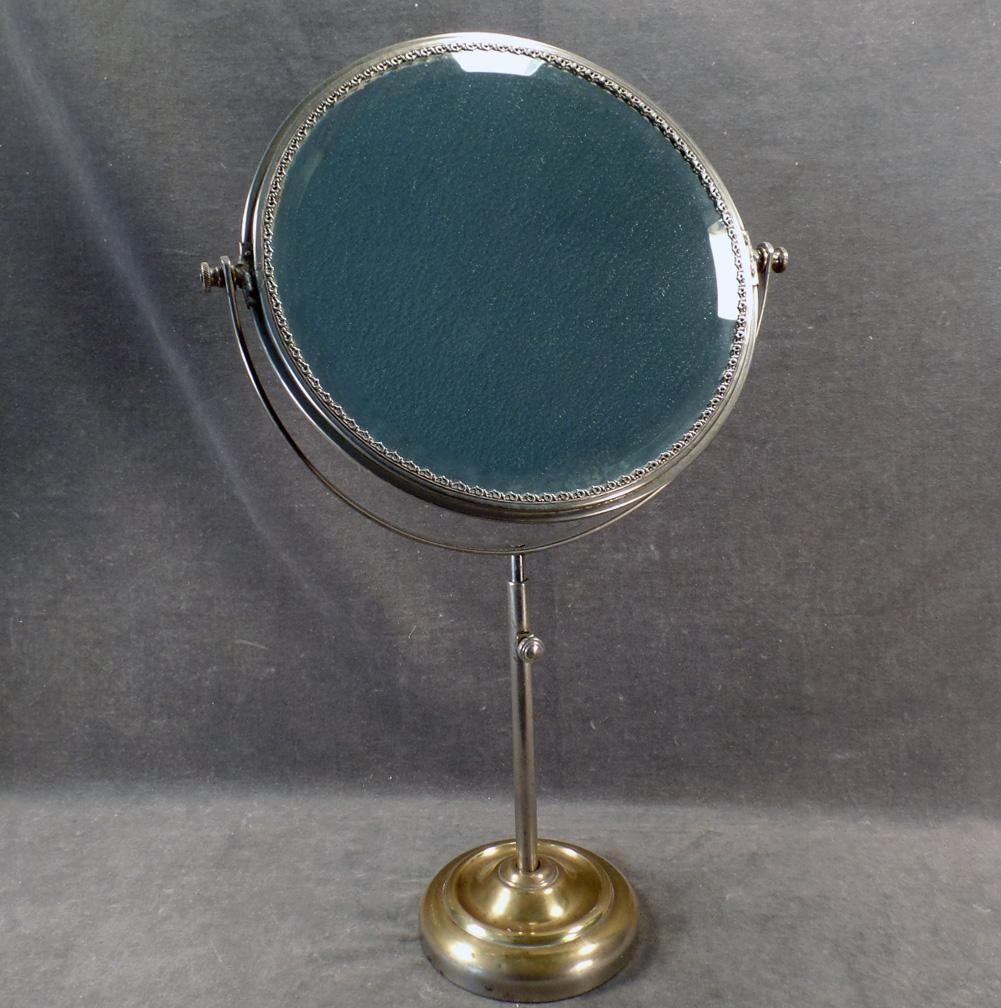 Vintage Vanity or Shaving Mirror Beveled Swivel Mirror